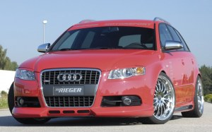 spoiler de pare avant RIEGER 3 ouverture pour Audi A4 type 8E B7 S-Line
