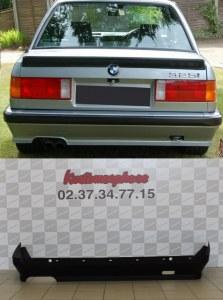 Spoiler rajout jupe de pare choc arrière BMW Serie 3 E30 (82-87) M-Tech 1 Plastique ABS