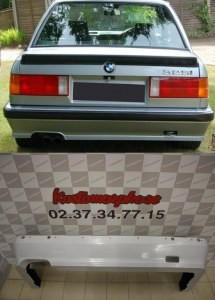 Spoiler rajout jupe de pare choc arrière BMW Serie 3 E30 (82-87) M-Tech 1