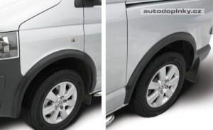 Extensions d'aile Volkswgaen Transporter T5 2003-2015 (chassis court & longue) Noir (10-pièces)